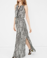 Stripe Split Maxi Dress