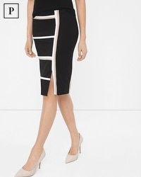 Petite Pieced Ponte Pencil Skirt