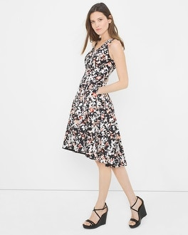 Printed Fit-and-Flare Sundress