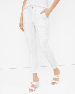 Slim Ankle Pants with Zip Utility Pockets