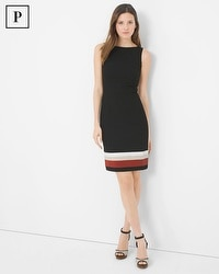 Petite Colorblock Hem Sheath Dress