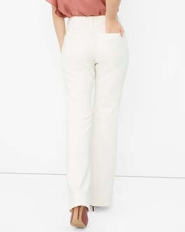 Curvy Structured Twill Flare Pants