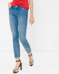 Ankle Zip Skinny Crop Jeans