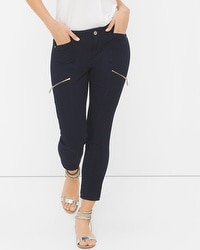 Curvy Skinny Crop Jeans with Utility Details