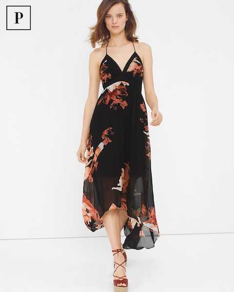 d147bb7ec0d8 Petite Floral High-Low Maxi Dress - White House Black Market