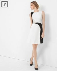 Petite Colorblock A-line Dress