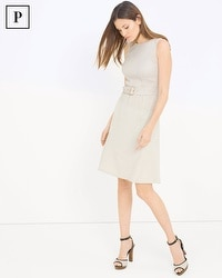Petite Tweed Fit-And-Flare Dress