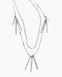 Multi-Row Bar Drop Necklace