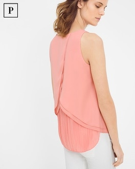 Petite Pleat Back Shell