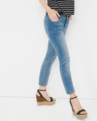 Distressed Skinny Crop Jeans