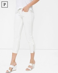 Petite White Skinny Crop Jeans