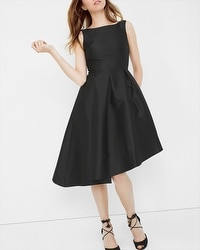 Asymmetric Fit-and-Flare Dress