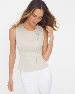 Neutral Tweed Bodice Top