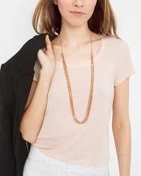 Rose Goldtone Layered Friendship Necklace