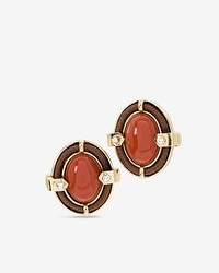 Red Jasper Threaded Stud Earrings