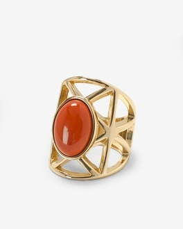 Red Jasper Cutout Ring