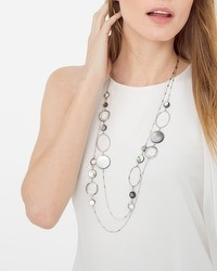 Shell Loop Double-Strand Necklace