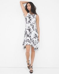Orchid Print Flippy Dress