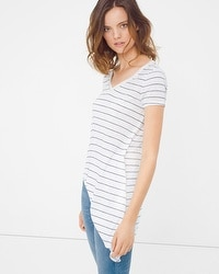 Stripe Asymmetric Tee