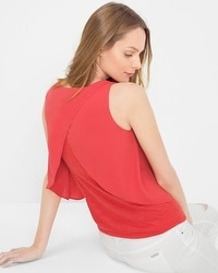 Layered Petal-Back Top