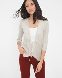 Shimmer Drawstring Sweater