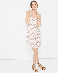 Ruffle-Front Stripe Dress