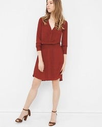 Long Sleeve Pintuck Dress