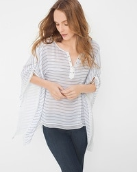 Stripe Kaftan Top