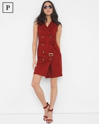Petite Double-Breasted Trench Dress