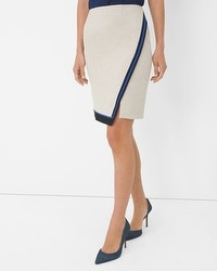 Colorblock Trim Wrap Skirt