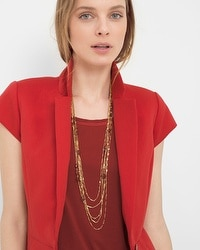 Red Jasper Multi-Row Long Necklace