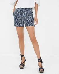 Feather Print Shorts