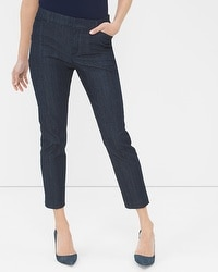 Wide-Leg Cropped Jeans