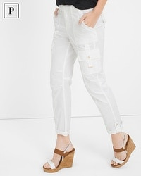 Petite Slim Crop Pants with Utility Details