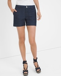 Denim Trouser Shorts