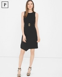 Petite A-Line Asymmetric Wrap Dress