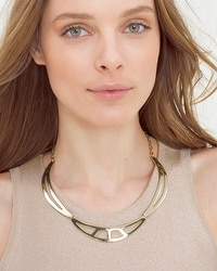 Cutout Section Collar Necklace
