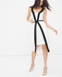 Contrast Fit-and-Flare Dress