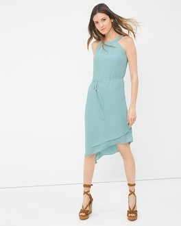 Halter Asymmetric Soft Dress