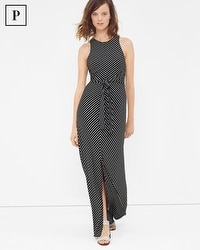 Petite Tie-Front Stripe Maxi Dress
