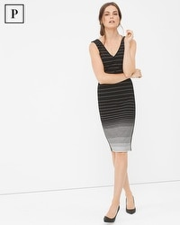 Petite Gradient Stripe Sheath Dress