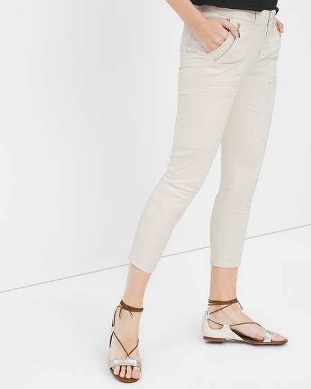 Skinny Crop Jeans with Utility Details