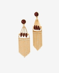 Wooden Bead Chandelier Earrings