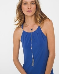 Sodalite Drop Fringe Necklace