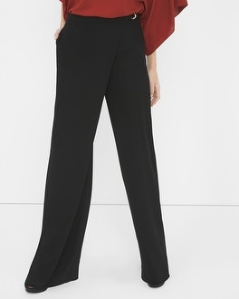 Wrapped Front Wide Leg Pant