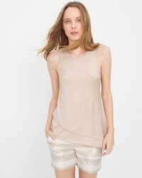 Layered Shimmer Sweater Tank