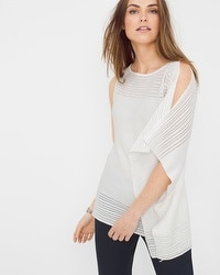 Asymmetric Drape Sleeve Sweater