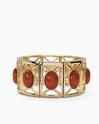 Red Jasper Cutout Stretch Bracelet