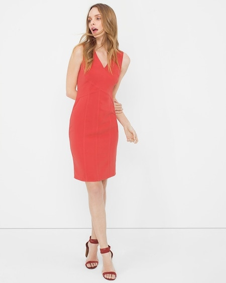 Cross-Seam Sheath Dress