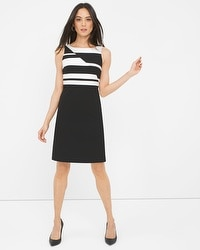 Contrast Seamed Shift Dress